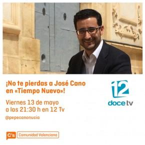 José Cano en Tiempo Nuevo de 12 TV