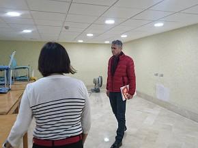 Ciudadanos revisa las obras de la biblioteca ejecutadas con una de sus enmiendas a los Presupuestos 2016