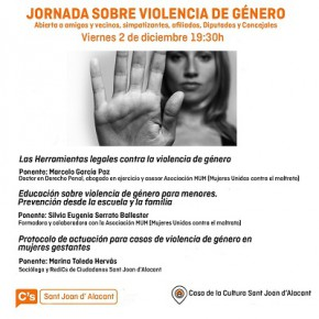 Cs Sant Joan organiza una jornada sobre violencia de género