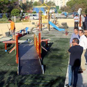 Benidorm amplía a instancias de Ciudadanos la zona infantil del parque de La Cala con juegos adaptados