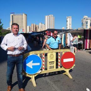 Ciudadanos reclama la apertura inmediata al tráfico del vial del mercadillo Pueblo de Benidorm
