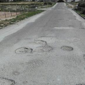 Cs solicita la renovación del asfaltado del camino rural Las Palmeras que comunica La Mata y el campo de Guardamar del Segura