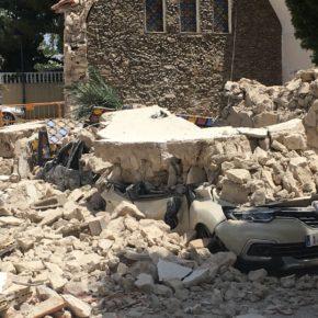 """Jesús Garrido denuncia """"el trágico derrumbe de la ermita en El Campello, que no va a caer en el olvido porque vamos a pedir responsabilidades"""""""